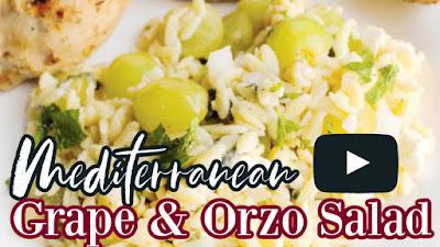 thumbnail for grape orzo salad youtube video