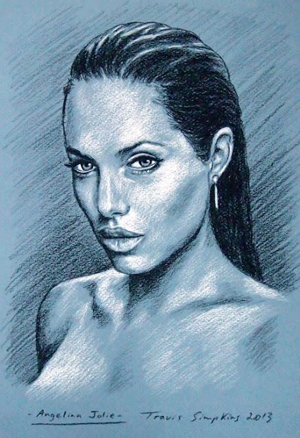 Angelina Jolie. Actress. Lara Croft: Tomb Raider. by Travis Simpkins