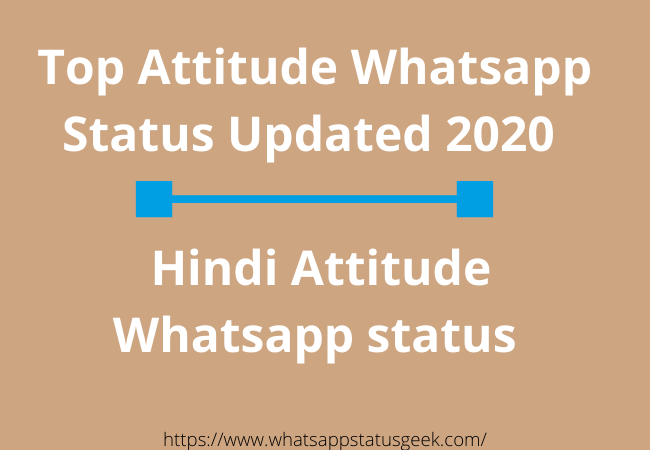 Attitude Whatsapp Status Updated 2020
