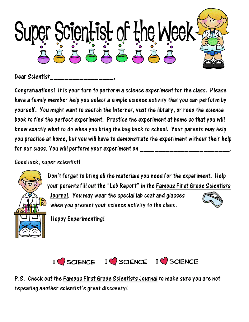 Worksheets Super Scientist Worksheet first grade o w l s super scientist here is the parent letter addressed to next scientist