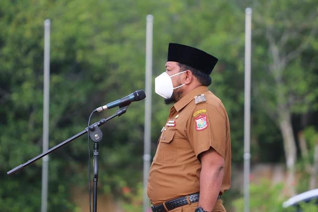 Syahrial Pimpin Apel Gabungan Awal Tahun 2021 di Lingkungan Pemkot Tanjungbalai.lelemuku.com.jpg