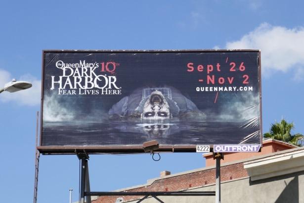 Queen Mary 10th Dark Harbor Halloween billboard
