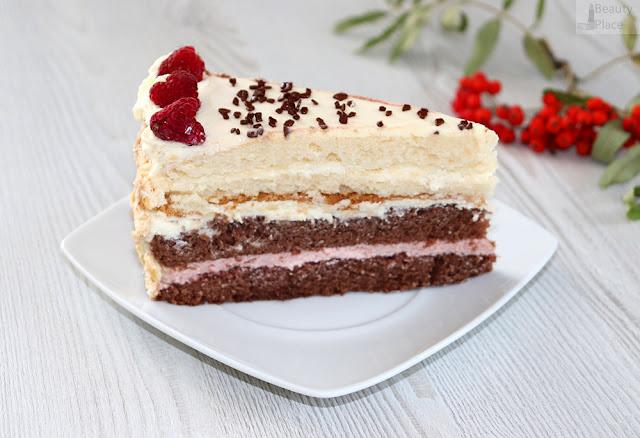 tort malinowo smietanowy z mascarpone
