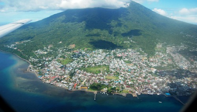 Ternate Island Volcano in Indonesia