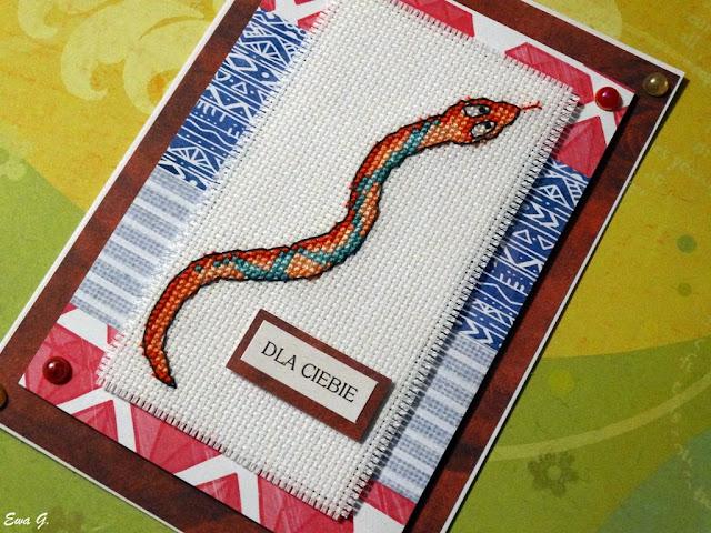 Zwierzęca wymianka kartkowa - węże