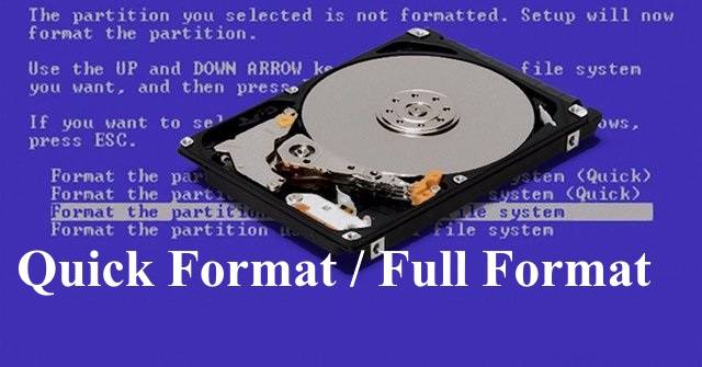 phân biệt Quick Format và Full Format