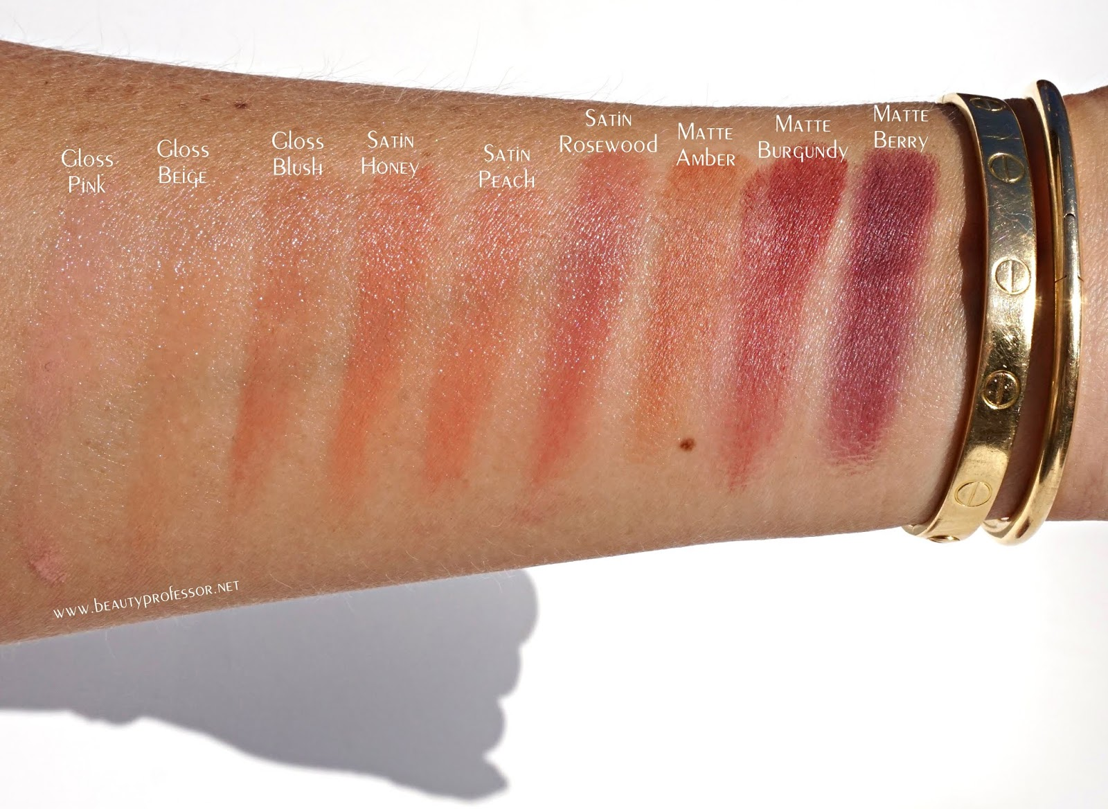 dior backstage Lip palette swatches