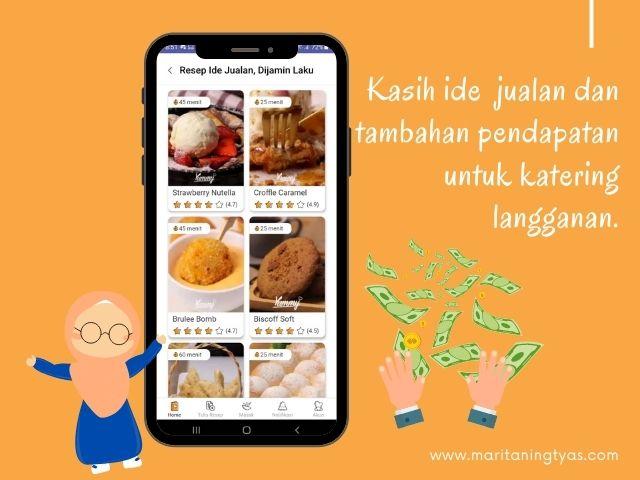 kolom resep ide jualan yummy app