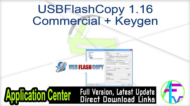 USBFlashCopy 1.16 Commercial + Keygen