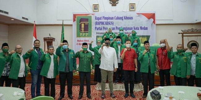 Galang Dukungan, Bobby Nasution Paparkan Visi Misi Di Hadapan Kader PPP Medan