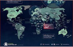 Carte du PIB par capita de tous les pays du monde