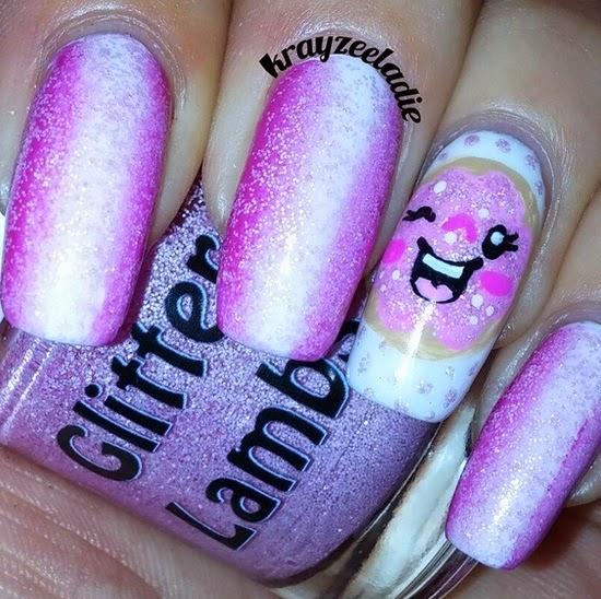 Pink Christmas Sugar Cookie Glitter Lambs Nail Polish