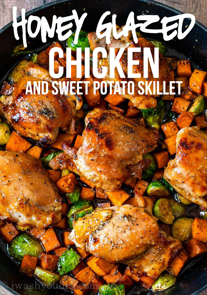 Best and Amazing Honey Glazed Chicken Skillet
