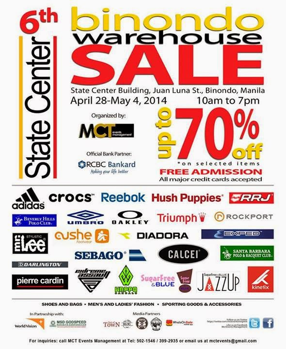 2b4f9e6135ee 6th Binondo Warehouse Sale April 28 to May 4 2014