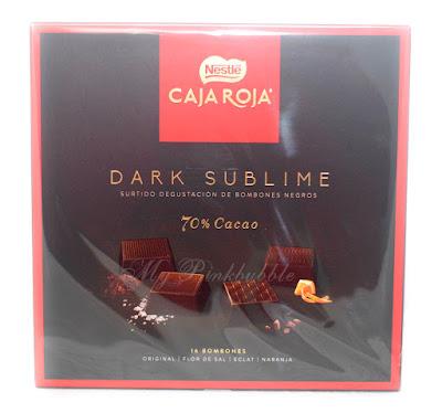 Nestlé caja roja dark sublime