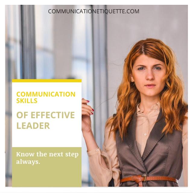 communication skills of an effective leader