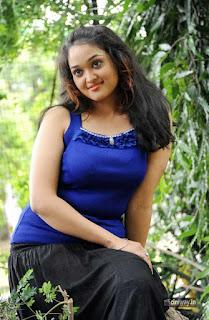 Mounika-Photoshoot-Stills-in-Blue-Top