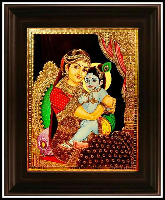 bal krishna yashoda images