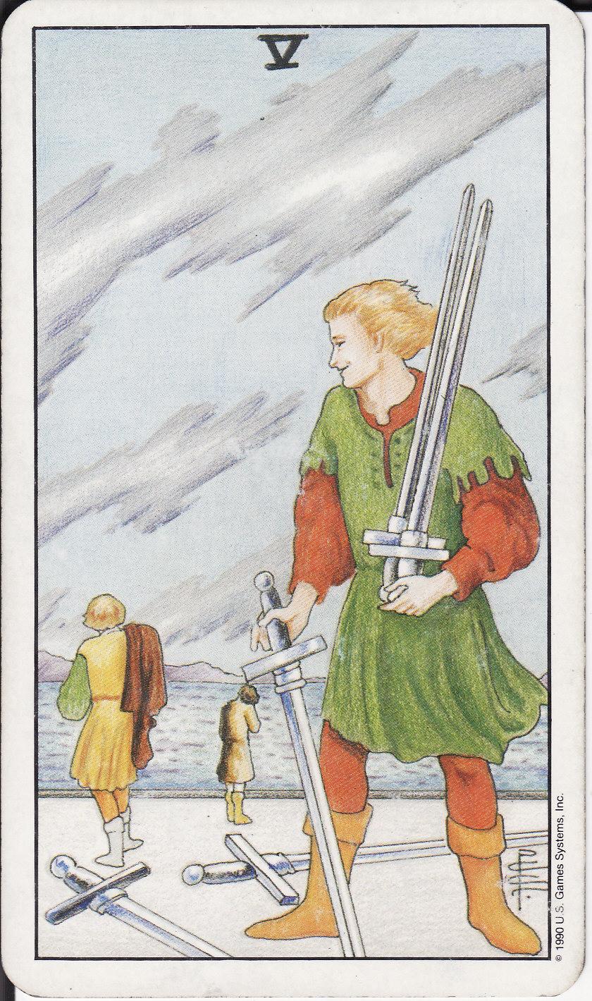 The Royal Road: 5 FIVE OF SWORDS V