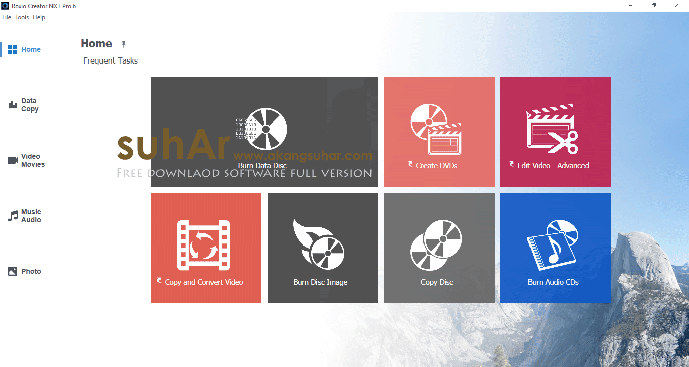 Free download software all in one Corel Roxio Creator NXT Pro 6 final latest version gratis serial number patch keygen license key activation code terbaru www.akangsuhar.com