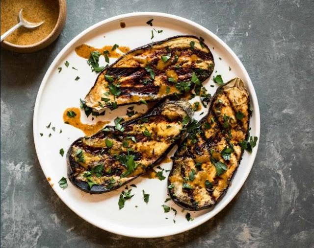Jamaican Jerk Grilled Eggplant (30 Minutes!) #vegetarian #plantbased