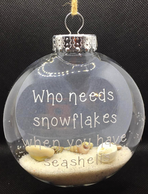 Who Needs Snowflakes when you Have Seashells Ornament
