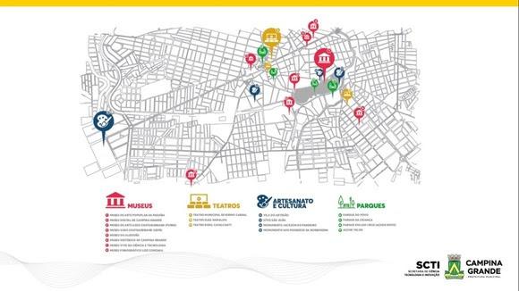 Campina Grande vai contar com circuito turístico integrado a recursos tecnológicos