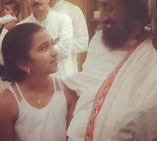 Aiyana Paes With Shri Shri Ravi Shankar