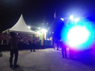 Mencegah gangguan Kamtibmas Porsenel Polsek Maiwa laksanakan Patroli Blur Light