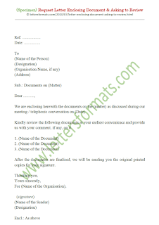 sample letter of request for document review