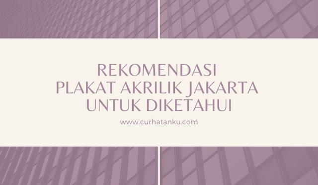 Plakat Akrilik Jakarta