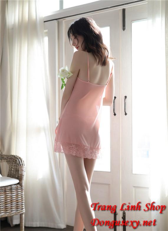 Váy ngủ 2 dây xuyên thấu gợi cảm 14