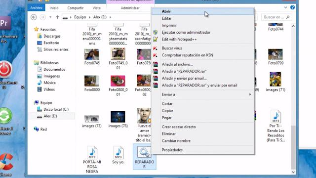 Como recuperar archivos de una USB dañada, infectada, con accesos directos