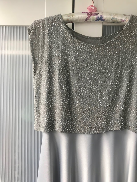 Diary of a Chain Stitcher: Beaded Silver Bridesmaid Dress - BHL Elisalex Dress & Emmeline Tee