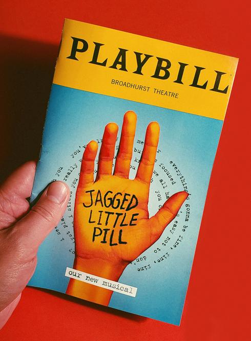 Jagged Little Pill Playbill