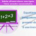 Equations et inéquations du premier degré à une inconnue - Série d'exercices corrigés - 1ère année secondaire