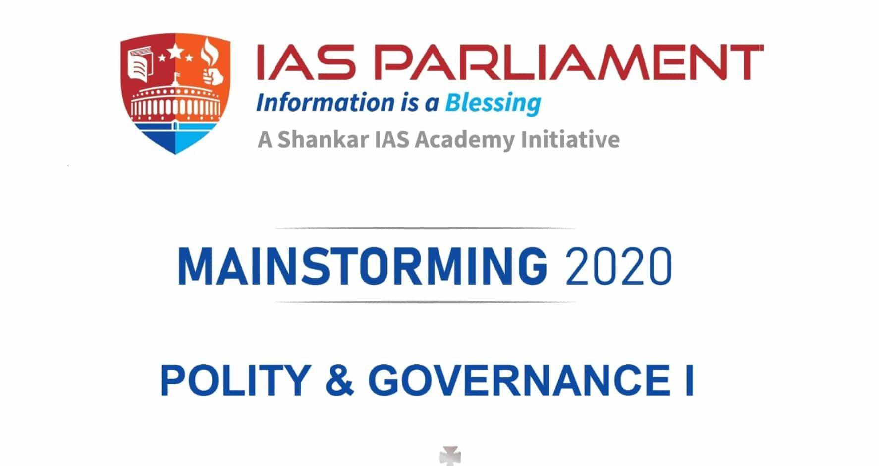 UPSC CSE Mains 2020 Polity & International Relations 2