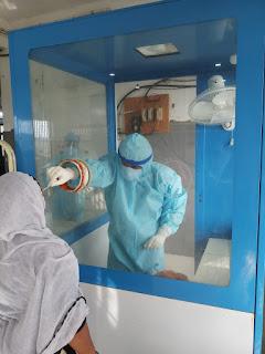 संदेह होने पर कोरोना संक्रमितो की जांच हेतु 40 लोगों के लिए सैंपल, जांच के लिए भेजे