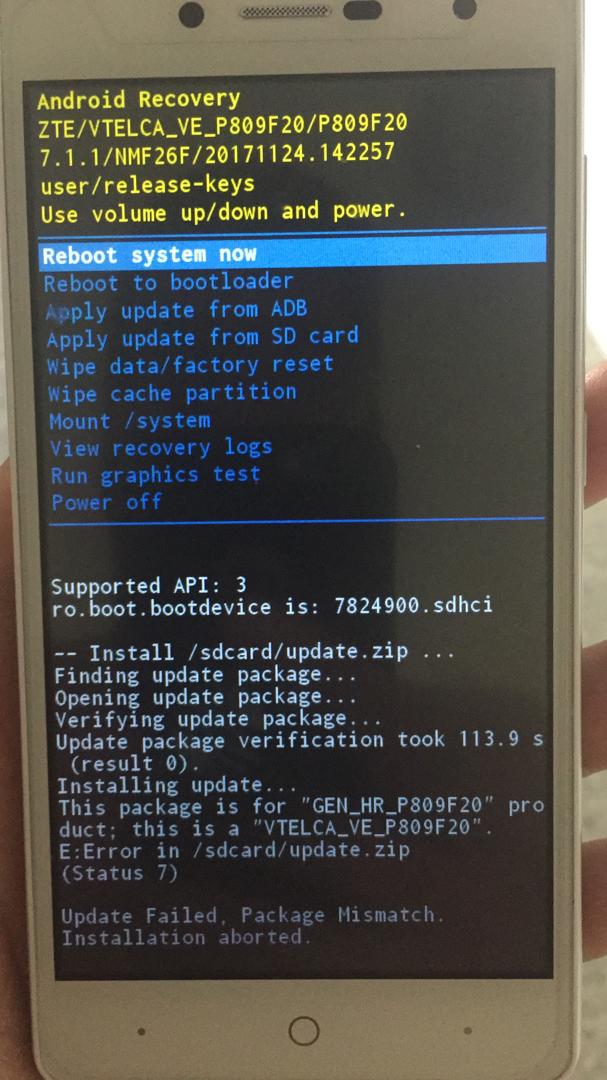 ZTE A320 with no service after IMEI Repair with NCK Qualcomm