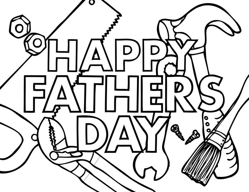 Free Happy Fathers Day Coloring Pages, Printable, Sheets, Cards ...
