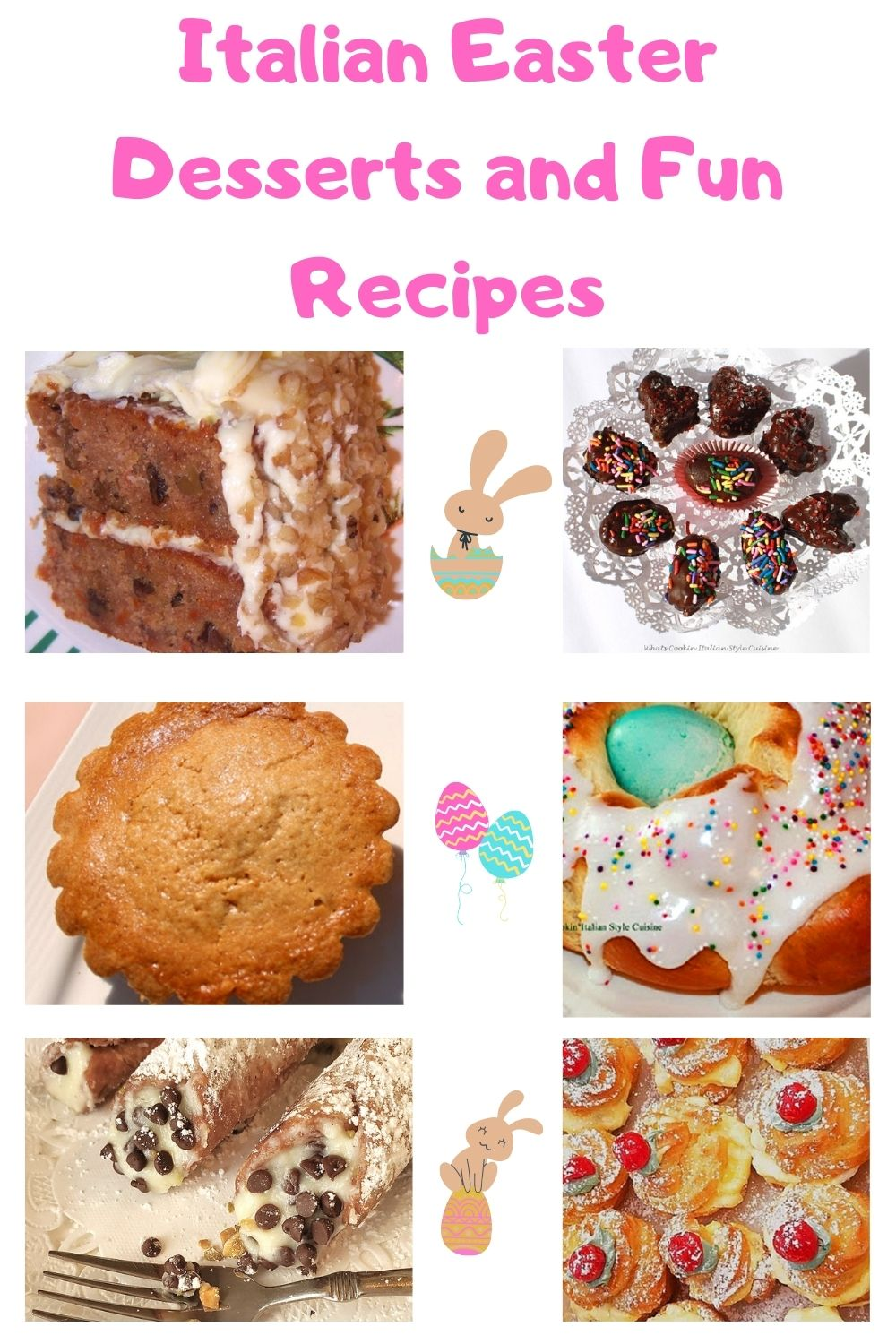 this is a pin for later Easter dessert roundup of recipes