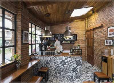 desain interior cafe klasik