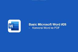 Cara Konversi Word ke PDF