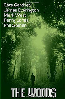 Picture shows book cover of The Woods