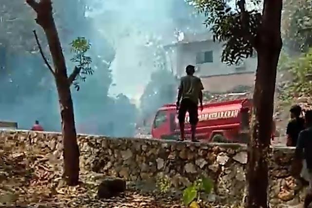 Wisata Tanjung Palette Hampir Terbakar Gara-gara Sampah