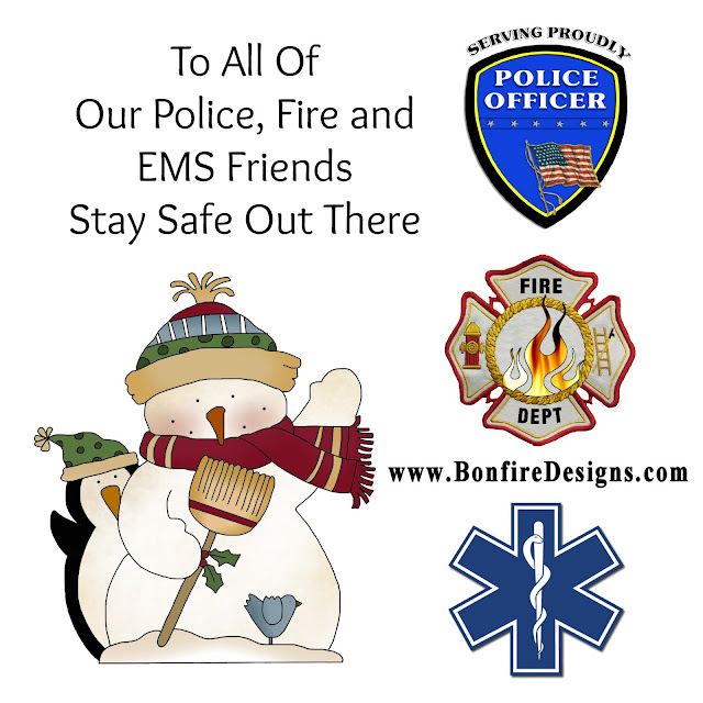 Police Firefighters EMS Christmas Holiday Wishes