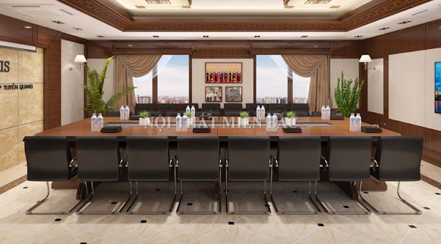 Mẫu ghế phòng họp chân quỳ mang đến sự hài hòa cho không gian làm việc chuyên nghiệp, tạo ấn tượng tốt của doanh nghiệp đối với khách hàng