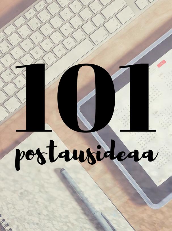 101 postausideaa