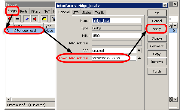 Mengatasi MAC Address Bridge MikroTik Berubah