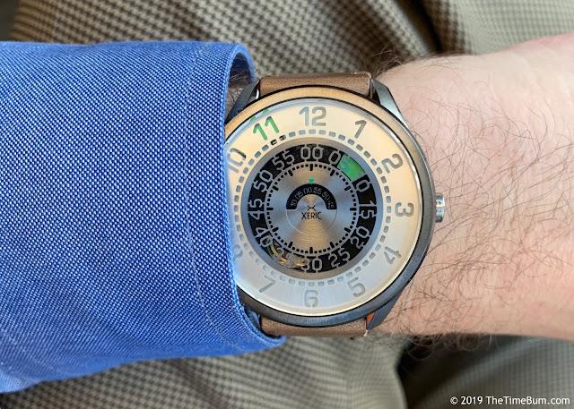 Xeric Cypher Automatic Tritium Silver Green wrist